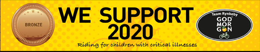 We support 2020 / Team Rynkeby - Riding for children with critical illnesses
